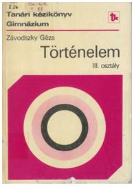 Závodszky Géza 1987-es tanári kézikönyve