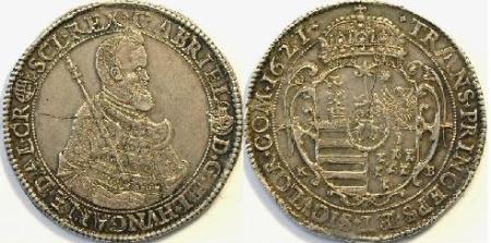 Bethlen Gábor tallér 1621-ből