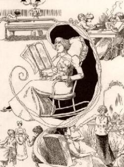 Női szerepek - karikatúra