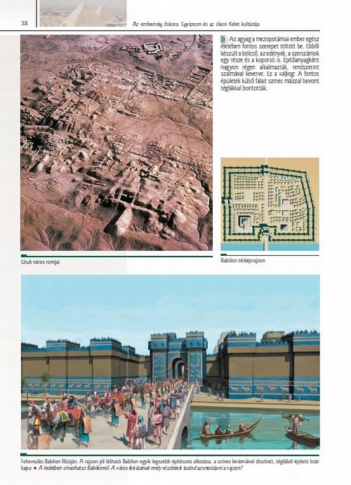 Az ókori keletet bemutató oldal a tankönyvből