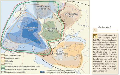térkép a tankönyvből