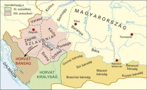 magyarország horvátország térkép Varga Szabolcs: A horvát múlt ábrázolása a középiskolás magyar  magyarország horvátország térkép