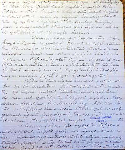 Részlet Vay Péter Háborús évek I. füzetéből. Klebelsberg Kunó jellemzése