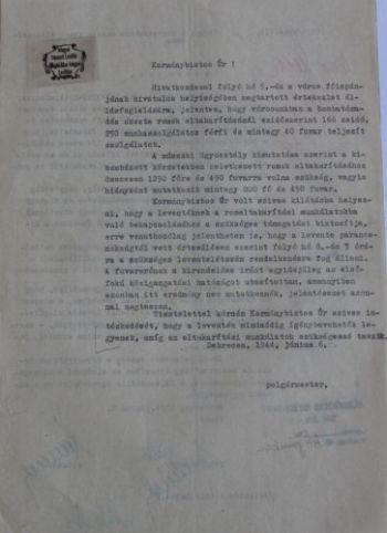 A polgármester munkaerővel kapcsolatos kérelme a kormánybiztoshoz