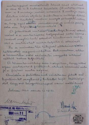 A IV. kerület vezetőjének levele a polgármesterhez a közmunkafeltételek szigorításáról IV.