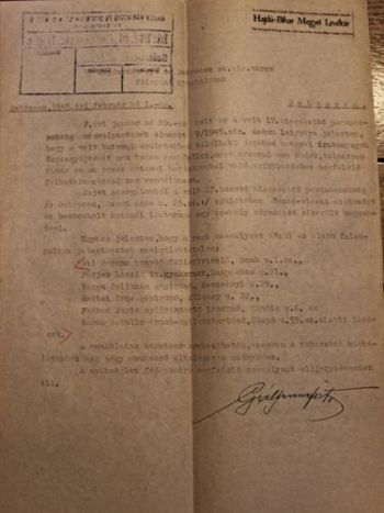 Gáll Ferenc honvéd főtisztviselő levele a polgármesterhez a 17. kiegészítő parancsnokság ügyében fölmerült nehézségekről