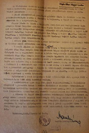 Az 1945. február 2-ai rendőrségi jelentés a razziákról
