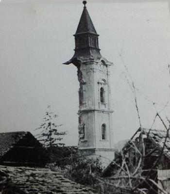 A református Ispotály templom tornyának maradványa