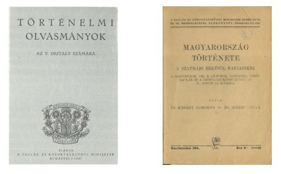 Két tankönyv az 1940-es évekből