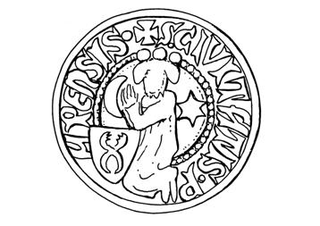 Pápa középkori pecsétjének rekonstrukciója