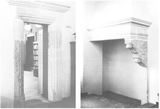 A reneszánsz ajtókeret és kandallókonzol