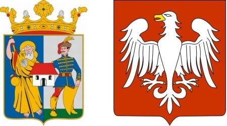 A két város címere