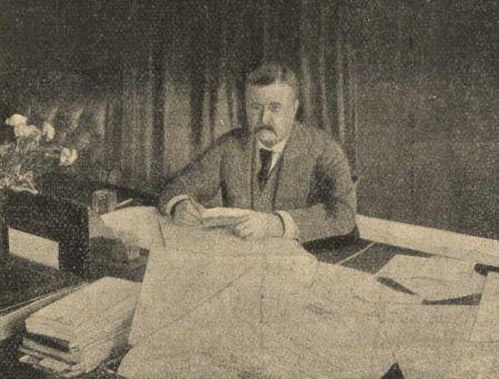 Az Amerikai naplókivonatok illusztrációja Theodore Roosevelt elnökről