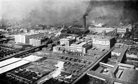 Az Armour and Company húsfeldolgozó vállalat chicagói telephelye, melyet Vay Péter is meglátogatott