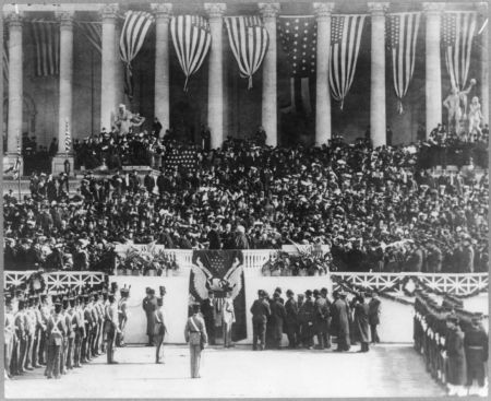 Theodore Roosevelt 1905-ös elnöki beiktatása, melyen Vay Péter is részt vett
