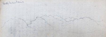A Sziklás-hegység vonulatának vázlata Vay Péter naplójában