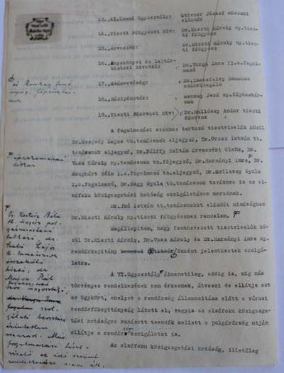 Vásáry István polgármester határozata a közigazgatás újbóli felállításáról II.